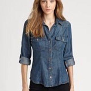 Anthropologie Bella Dahl denim button down shirt